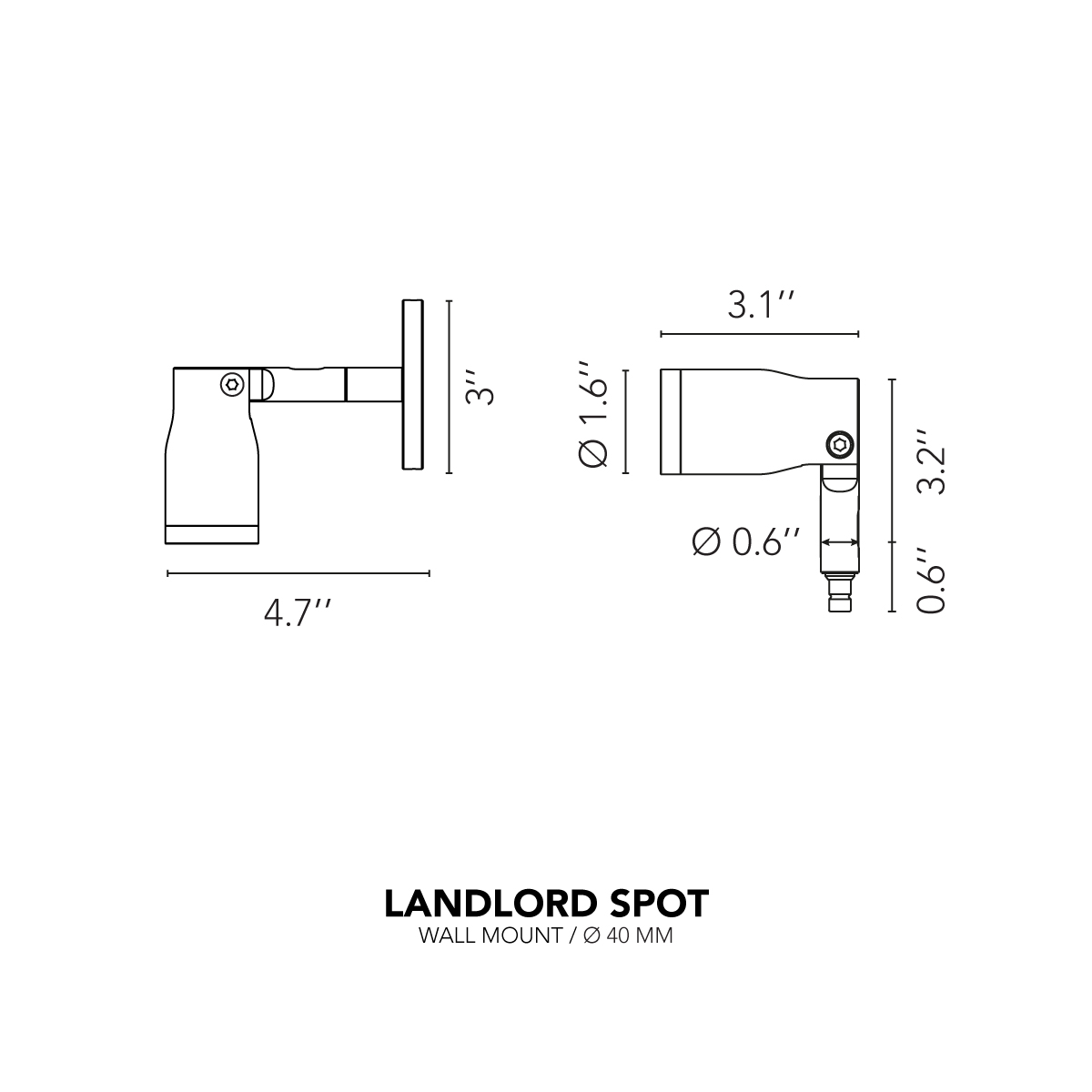 Landlord Spot D40 - Wall-Mount